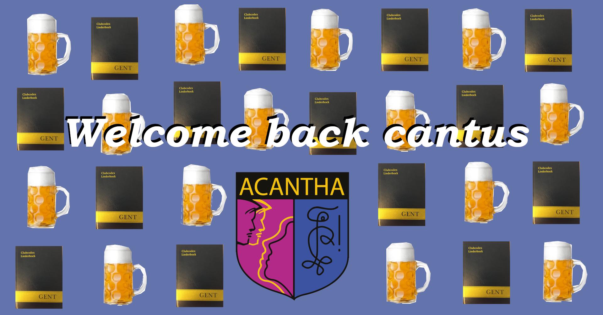 Welcome back cantus Jaar 18